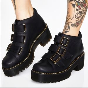 New Size 8 Dr. Martens Coppola Leather Heeled Boot
